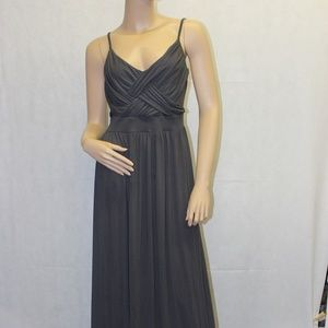 New York & Company Dark Gray Maxi Dress